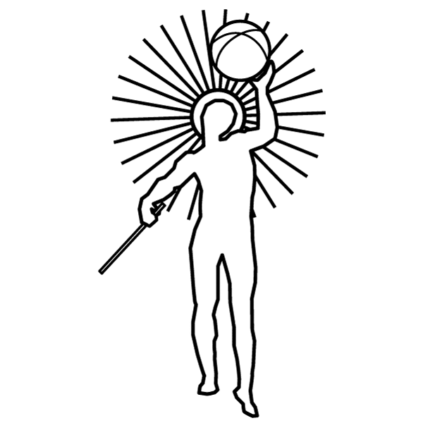 Line Drawing of Helios the Sun God as the logo for the HELIOS Product Spectrum Solutions offers