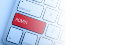 Red keyboard button that reads Admin